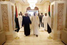 Photo of الشيخ محمد بن زايد آل نهيان يودع شيخ الأزهر في ختام زيارته التاريخية في الإمارات