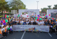 Photo of H.E. Minister Buhumaid leads Dubai Cares' Walk for Education alongside 15,000 participants to mark its 10th anniversary