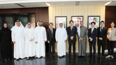 Photo of سعيد حارب يستقبل رئيس وكالة الألعاب الرياضية الأولمبية اليابانية