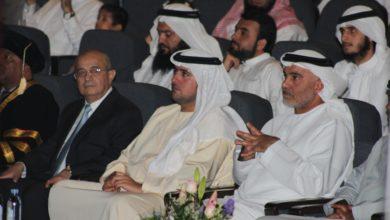 Photo of الشيخ سعيد بن حمدان بن راشد آل مكتوم يحضر حفل تخريج الدفعة ال 15 لثانوية الارقم