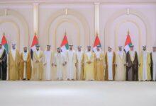 Photo of محمد بن راشد يتقبل تهاني محمد بن زايد وحكام الإمارات والشيوخ بزفاف أنجاله