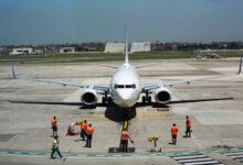 Photo of flydubai's inaugural flight lands in Naples
