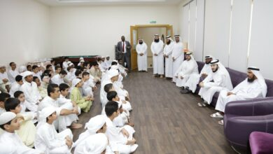 "Photo of Khalfan al-Mazrouei  inspects the ""Qouz Quranic center"" and discusses its development"
