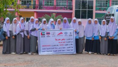 Photo of In cooperation with Dar Al Ber, two buses from Dubai Roads and Transport Authority helped 1300 female students reach their school in Thailand