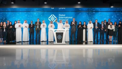 Photo of مركز دبي المالي العالمي يحتفل بتقدمه إلى الترتيب الثامن بين أفضل المراكز المالية العالمية بقرع جرس افتتاح سوق التداول في بورصة ناسداك دبي