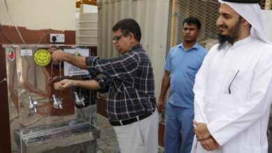 Photo of Cold water provide to 25,000 workers in Dubai by 103 water coolers