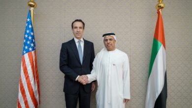 Photo of معالي عبيد حميد الطاير يلتقي نائب وزير الخزانة الأمريكية الجديد