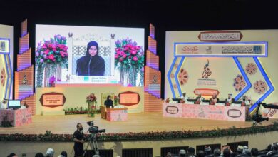 Photo of Sheikh Fatima Quran competition in 3rd day with 36 memorizers examined