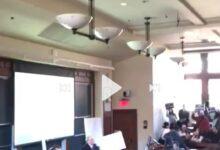 Photo of طلاب كلية الحقوق جامعة هارفرد تقاطع محاضرة قنصل الإسرائيلي بنيويورك (فيديو)