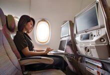 """Photo of طيران الإمارات تنال جائزتي أفضل """"واي فاي"""" وأفضل مأكولات ومشروبات ضمن جوائز خيارات المسافرين الإقليمية أبيكس 2020"""
