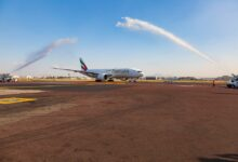 Photo of رحلة طيران الامارات الافتتاحية تحط في مكسيكو سيتي