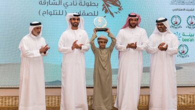 Photo of Young Emirati falconers fly high at Sharjah Falconers Club Championship
