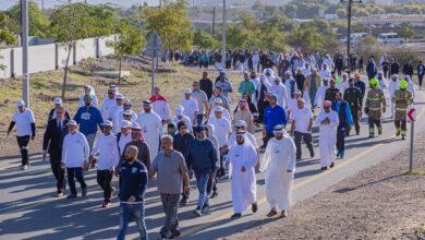 Photo of أكثر من 3000 مشارك في مسيرة مجلس دبي الرياضي للمشي في حتا