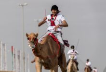 Photo of Hamdan Bin Mohammed Heritage Center organises two camel marathons: Al-Humairi wins 5th National Day Camel Marathon & Sheikh Hamdan witnesses the Camel Trek Marathon