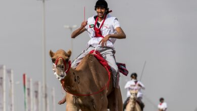 Photo of Hamdan Bin Mohammed Heritage Center organises two camel marathons: Al-Humairi wins 5th National Day Camel Marathon & Sheikh Hamdan witnesses the Camel Trek Marathon