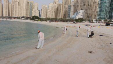 Photo of جهود متميزة لعمال النظافة في بلدية دبي لضمان استدامة نظافة المدينة على مدار الساعة