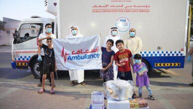 Photo of إسعاف دبي تُؤمن المير الرمضاني وألعاب الأطفال لعائلات الطواقم الإسعافية