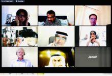 Photo of اللجنة العلمية لجائزة حمدان بن راشد الطبية تناقش عن بعد مستجدات عملية التقديم لكل فئاتها