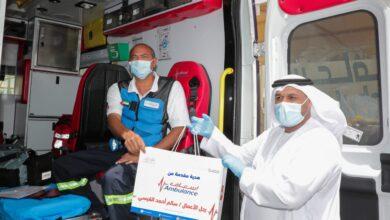Photo of مجموعة القيسي تهدي 60 جهازا تعليميا (عن بعد) لموظفي إسعاف دبي