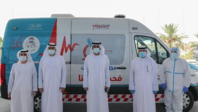 Photo of إسعاف دبي  تجري فحوص كورونا  لـــــ 118 شخصا في منطقة المرموم