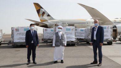 Photo of الإمارات ترسل طائرة مساعدات طبية ثالثة إلى كازاخستان لدعمها في مكافحة /كوفيد-19/
