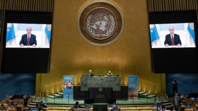 Photo of 75th session of the UN General Assembly.. President of Kazakhstan