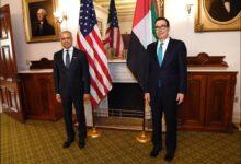 Photo of عبيد حميد الطاير يبحث مع وزير الخزانة الأمريكي تطورات العلاقات الاقتصادية