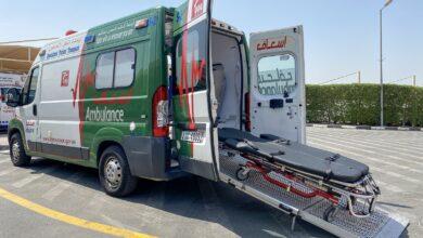 Photo of إسعاف دبي تنقل مريضا بوحدة الأوزان الثقيلة إلى مستشفى خليفة في عجمان