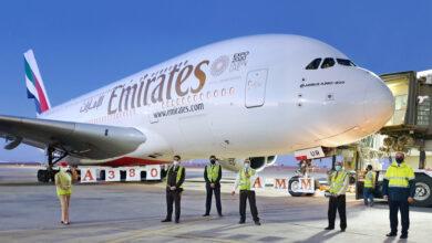 Photo of طائرة الإمارات A380 تهبط في عمّان