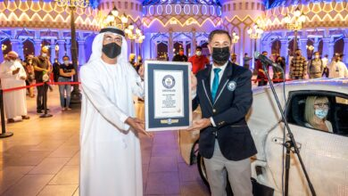 Photo of Global Village scoops second Guinness World Records™ title for the most LED lights on a car