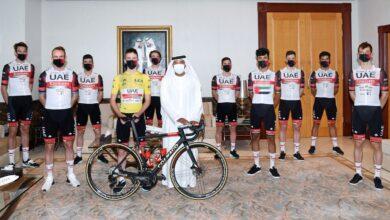 Photo of UAE Team Emirates makes a visit to Emirates Group Headquarters