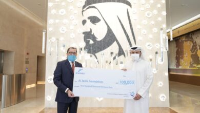 Photo of EWINGS, on behalf of Mahzooz, donates AED 100,000 to Al Jalila Foundation