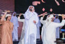 """Photo of الجسمي يهدي """"قول وفعل"""" الى حمدان بن محمد """"فزاع"""" في ختام برنامج الميدان"""