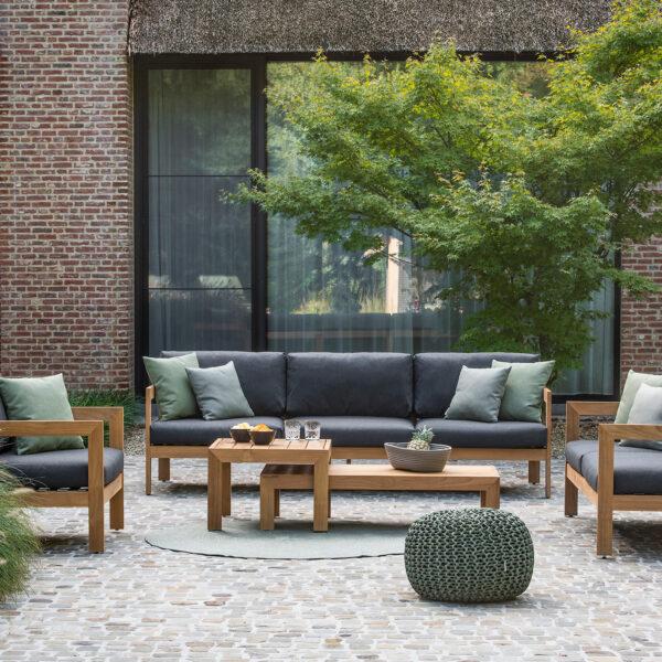 stijlvolle warme loungeset vigo teak jati&kebon