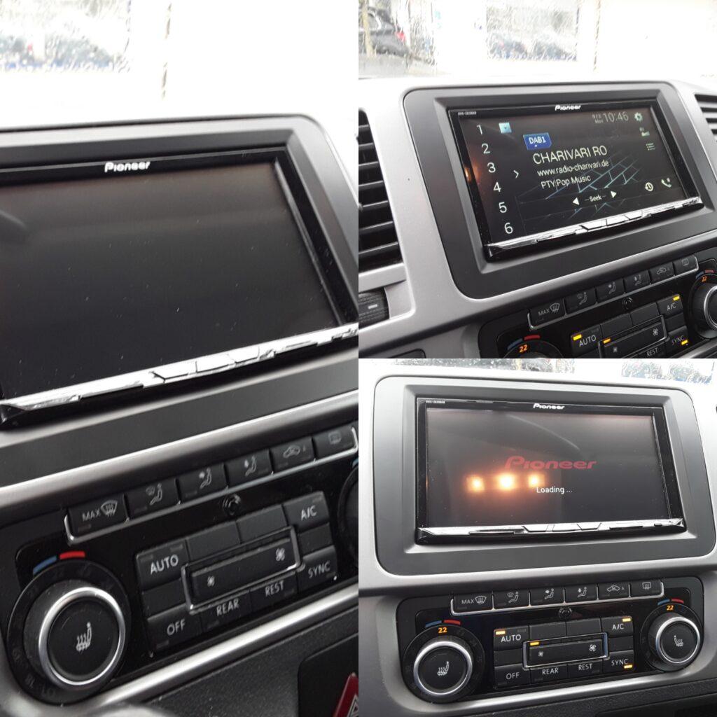 Volkswagen T5 mit Pioneer Navigationseinheit