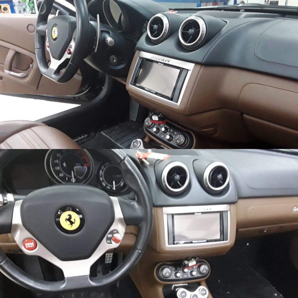 Ferrari California mit Pioneer Navigationseinheit