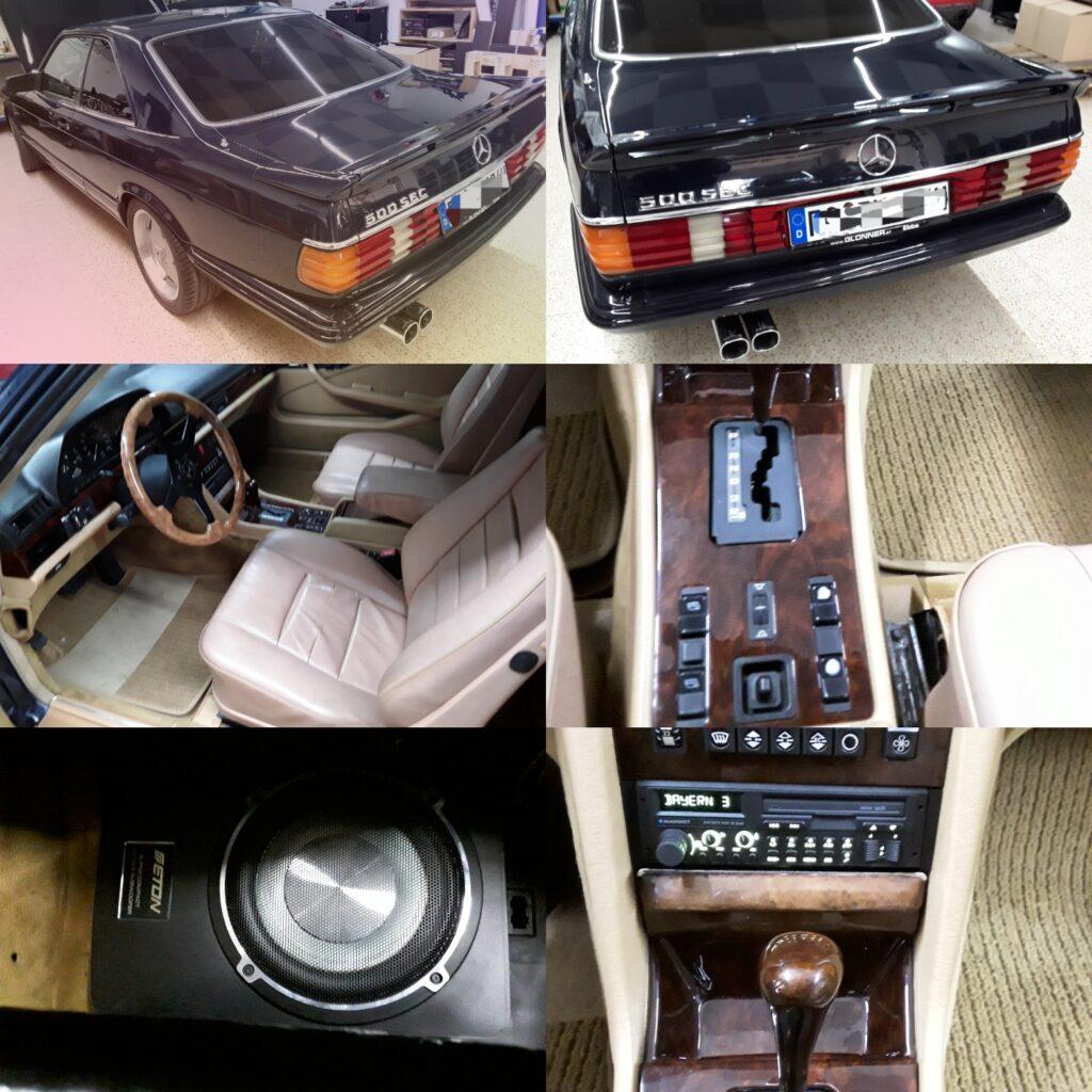 Mercedes 500 SEC - Radio, Lautsprecher und Subwoofer