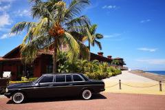 BEACH TRIP COSTA RICA MERCEDES 300D LIMOUSINE