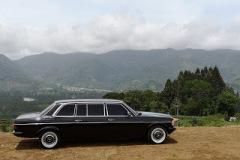 COSTA RICA CARTAGO MOUNTAINS. MERCEDES LIMOUSINE W123 300D
