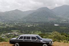 OROSI CARTAGO MOUNTAINS COSTA RICA. MERCEDES LIMO W123 LANG