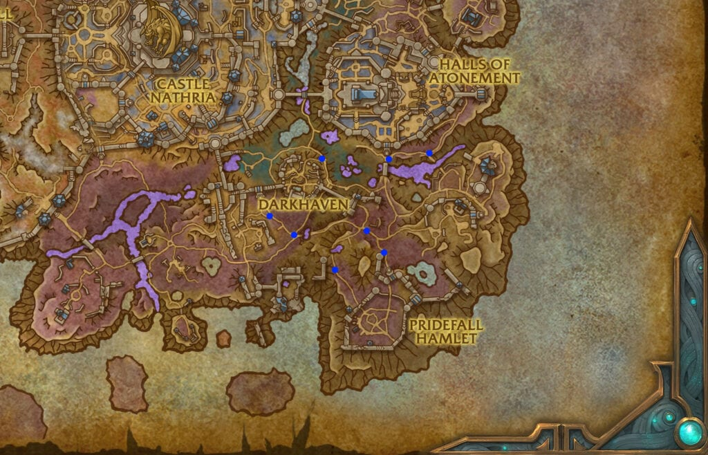 Sturdy Horseshoe locations for Sinrunner Blanchy