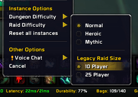 Raid difficulty setting for the Black Drake
