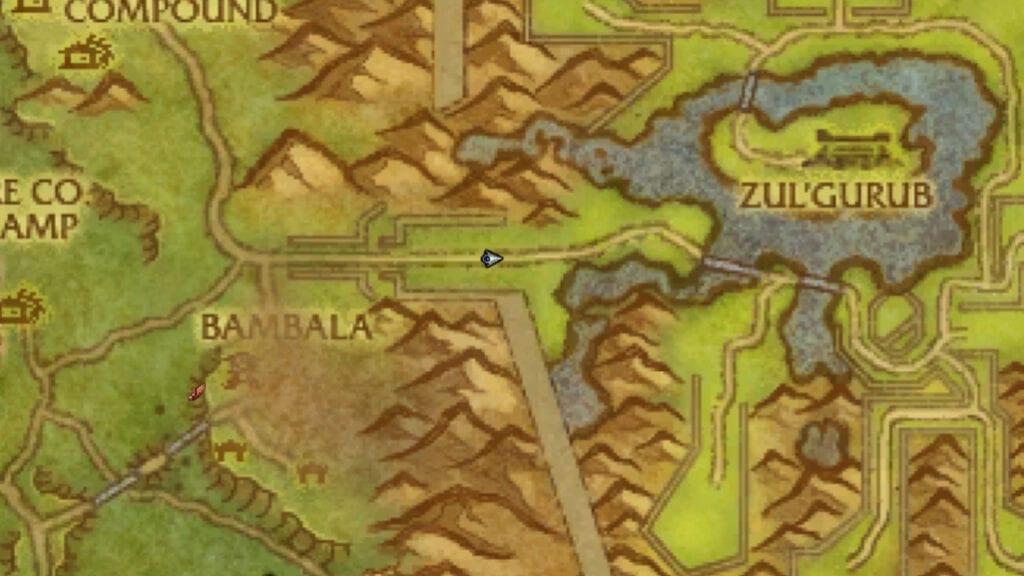Gul'Grub location on the map in Stranglethron