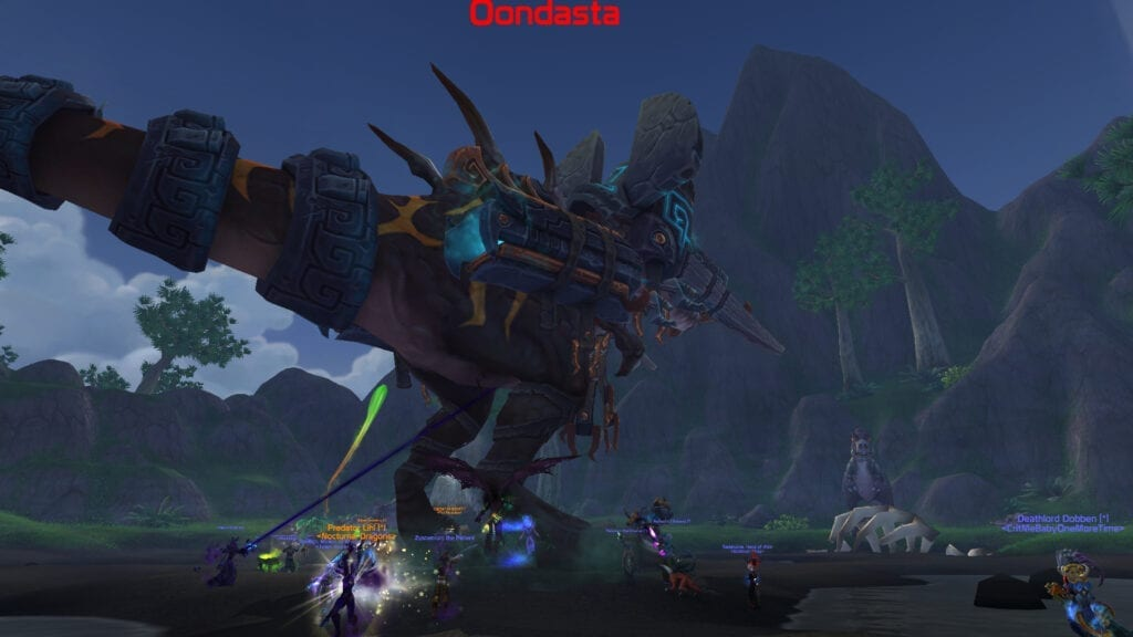 Oondasta the world boss that can drop the Cobalt Primordial Direhorn