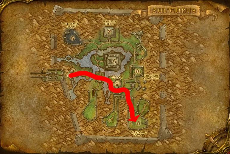 Path to Bloodlord Mandokir