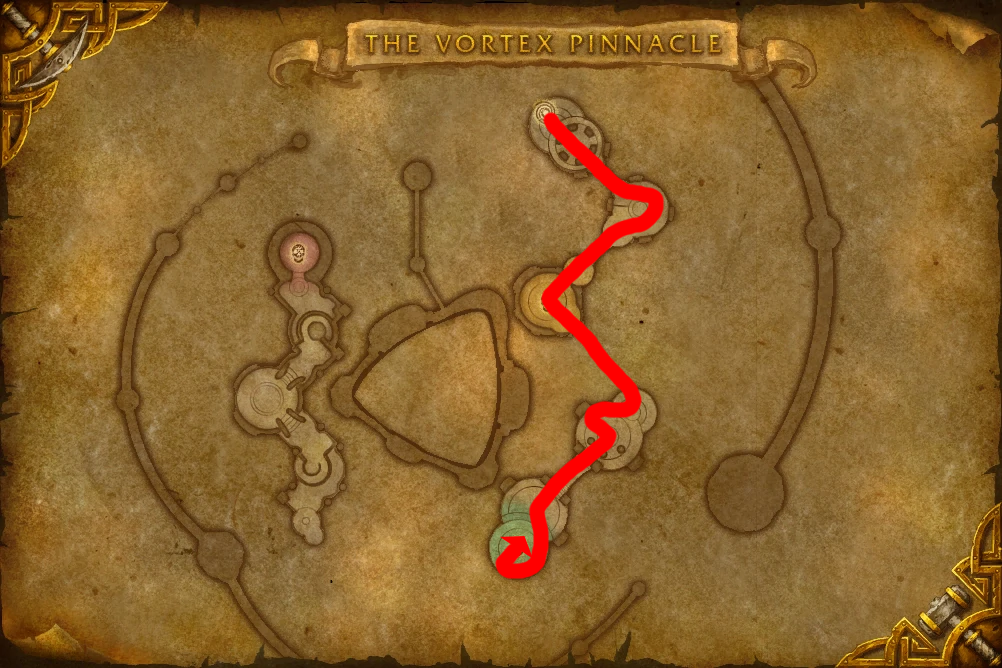 Path leading to Altairus who drops the Drake of the North Wind