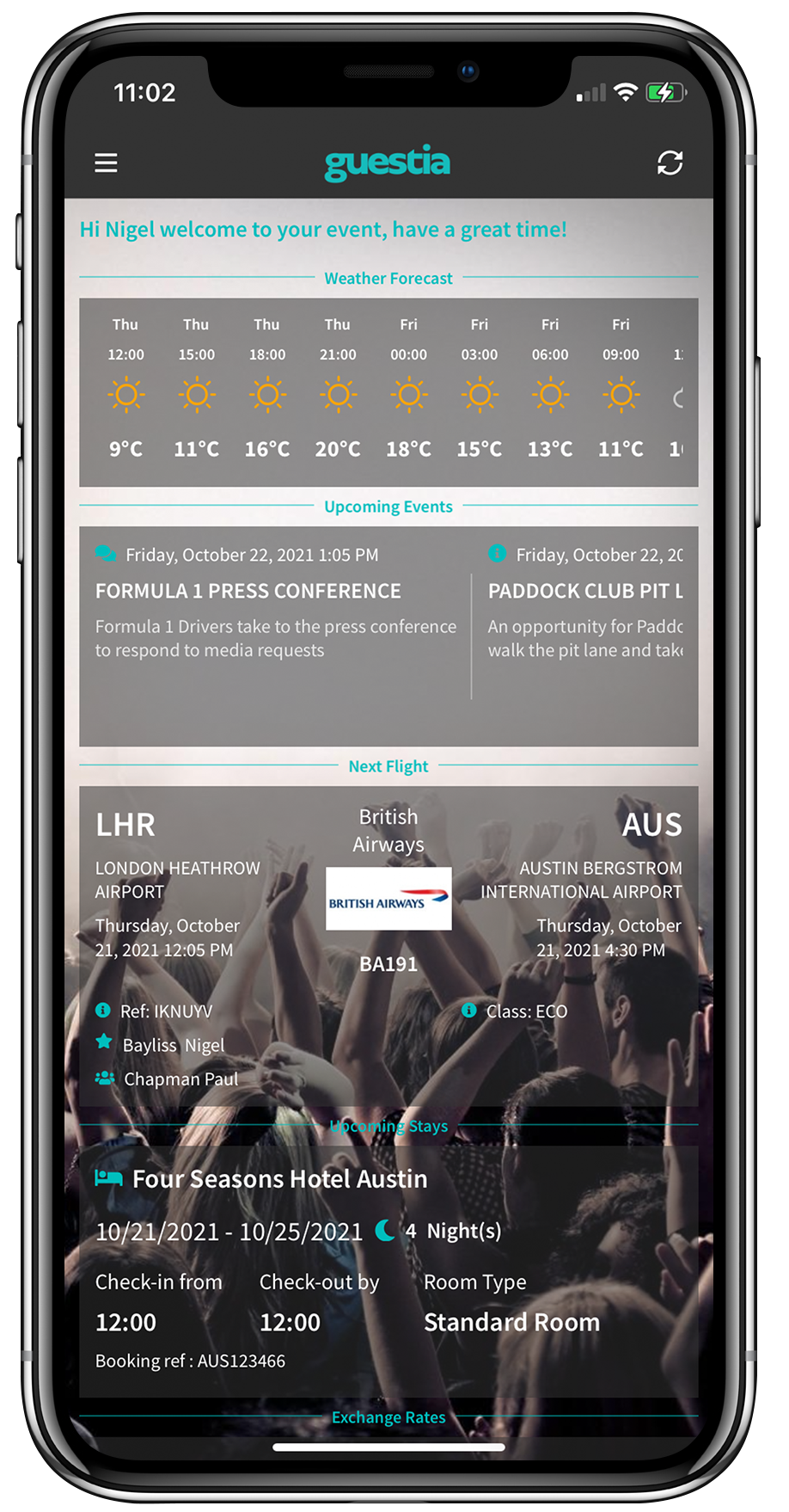 Guest - home screen