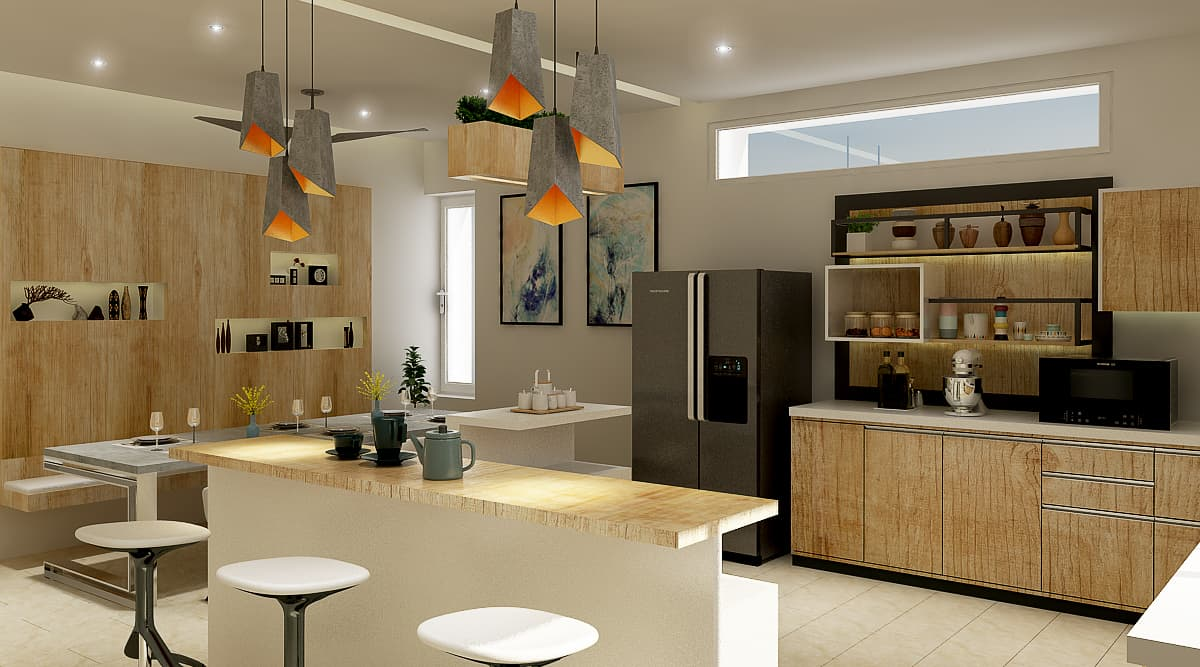 Kitchen Side View - Architects in Bangalore