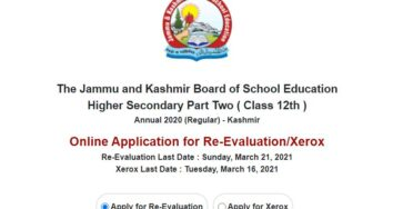 12th class jkbose re evaluation xerox