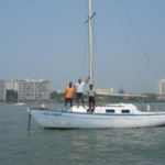 Sameer in Mumbai for India's first solo circumnavigator Dilip Donde